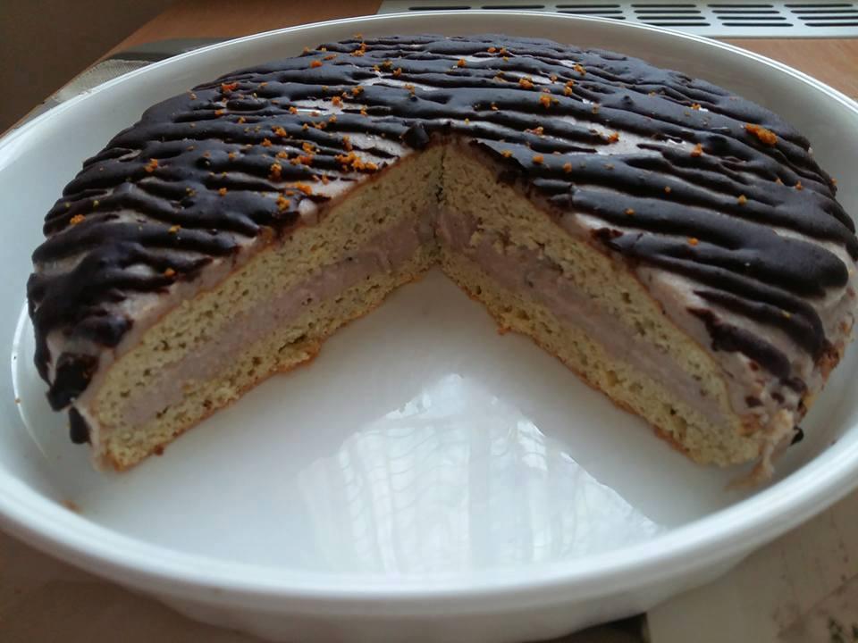 Gluténmentes, tejmentes gesztenye torta