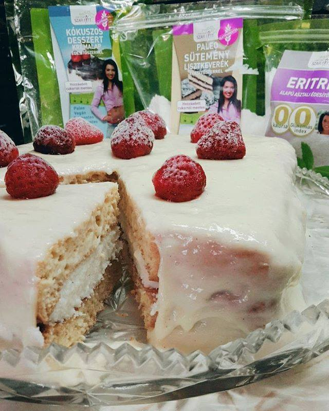 Paleo fordított Bounty ízű torta