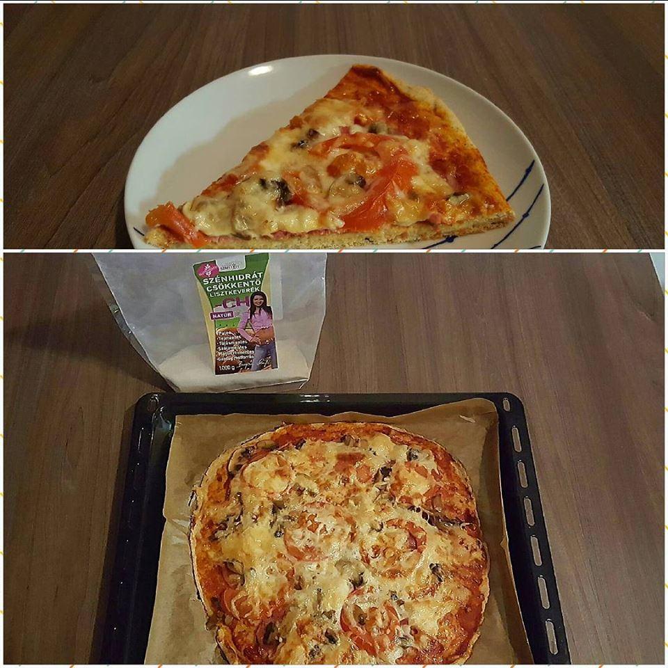 Szafi Fitt szénhidrátcsökkentett pizza