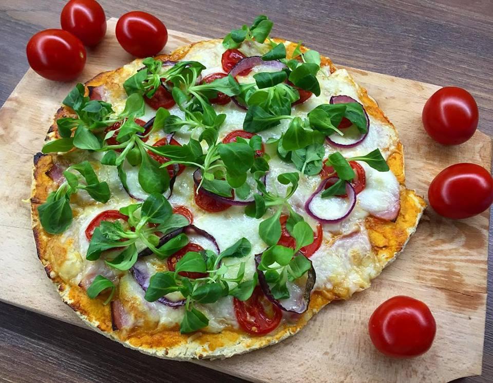 Szénhidrát-csökkentett Szafi Fitt pizza