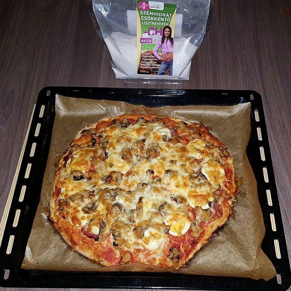 Szafi Fitt gluténmentes, tejmentes paleo pizza