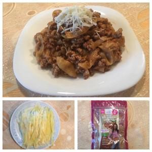 Bolognai szósz cukkini tésztával