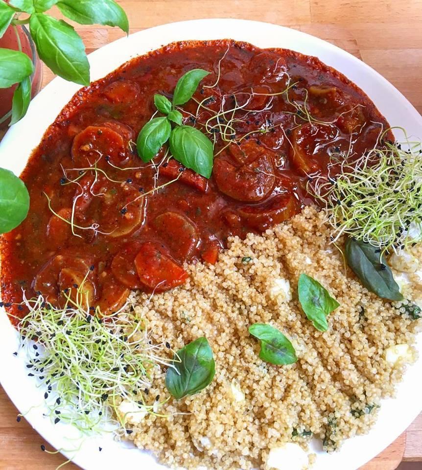 Szafi Fitt zöldséges bolognai és quinoa