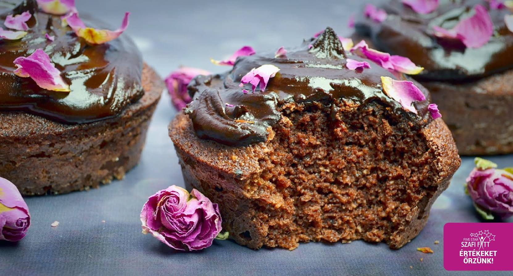 Szafi Fitt étcsokis, szénhidrátcsökkentett paleo muffin