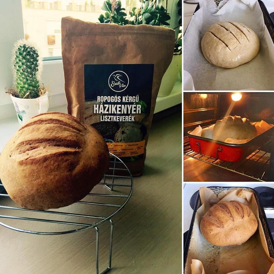 Ropogós kérgű kenyér