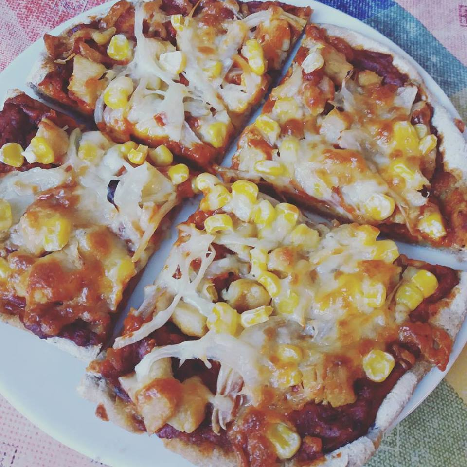 Élesztőmentes, zsírszegény pizza