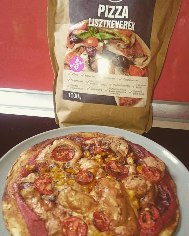 Zsírszegény vegán pizza