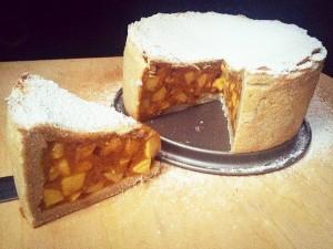 Szénhidrátcsökkentett gluténmentes alma torta