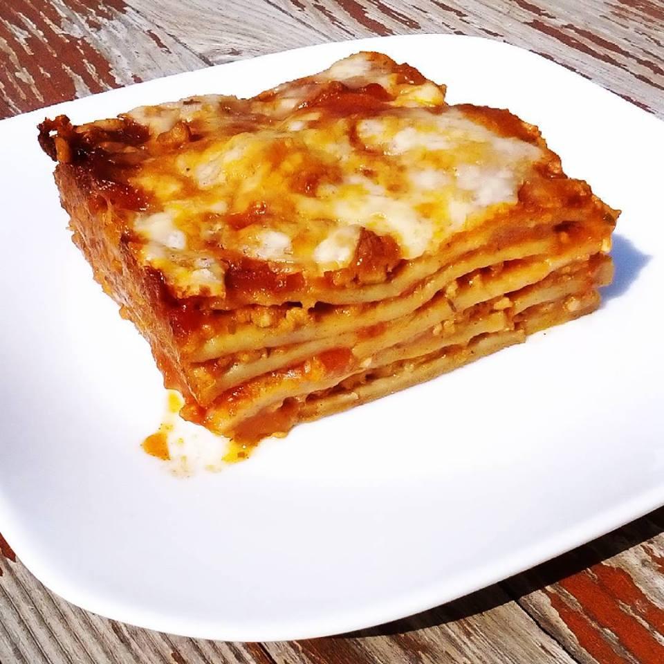 Házi gluténmentes tésztából készült lasagne