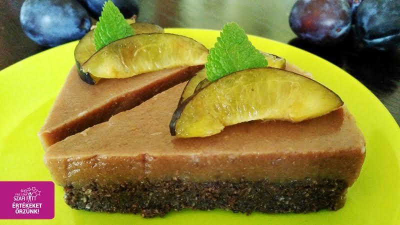 Paleo és vegán szilvás-mákos torta