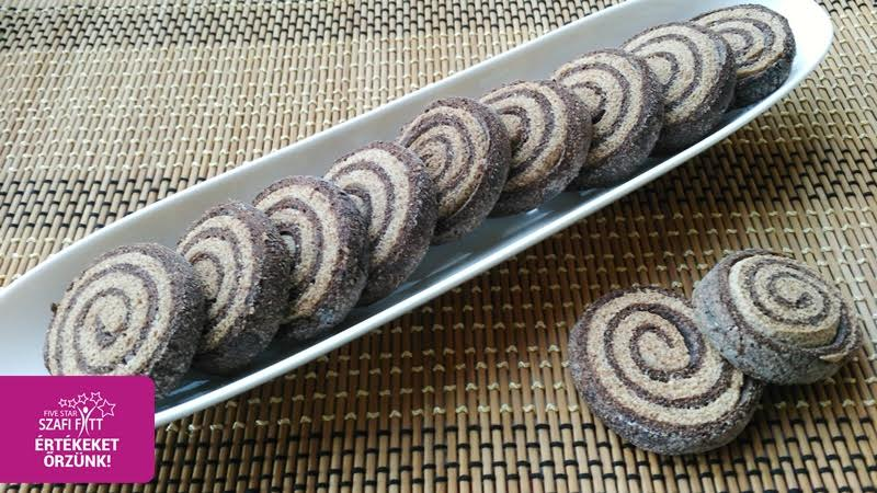 Paleo-vegán csíkos keksz