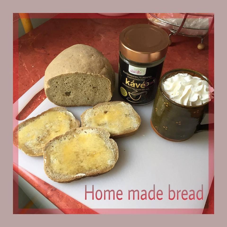 Élesztőmentes, gluténmentes kenyér 3in1 Szafi Fitt kávéval