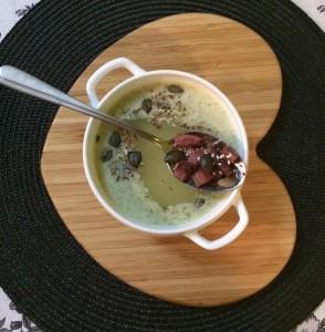 Fokhagymás brokkolis leves