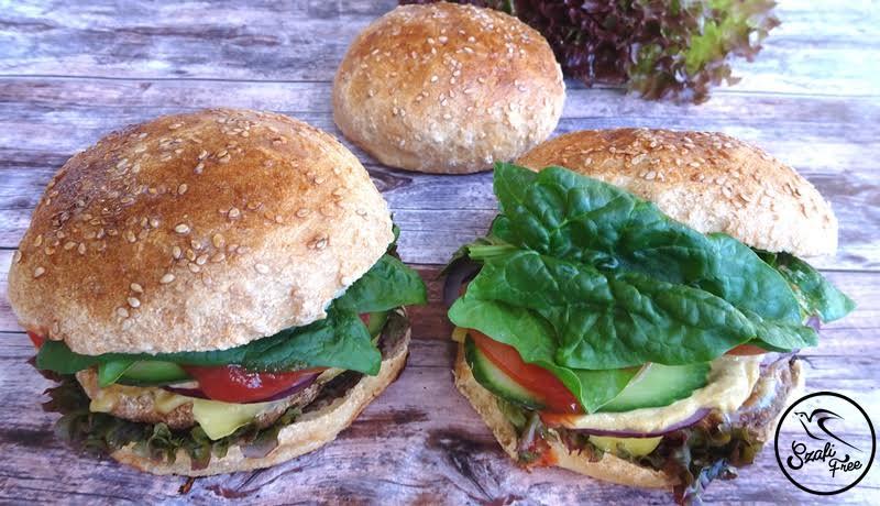 Szafi Free vegán, gluténmentes, rostos hamburger zsemle
