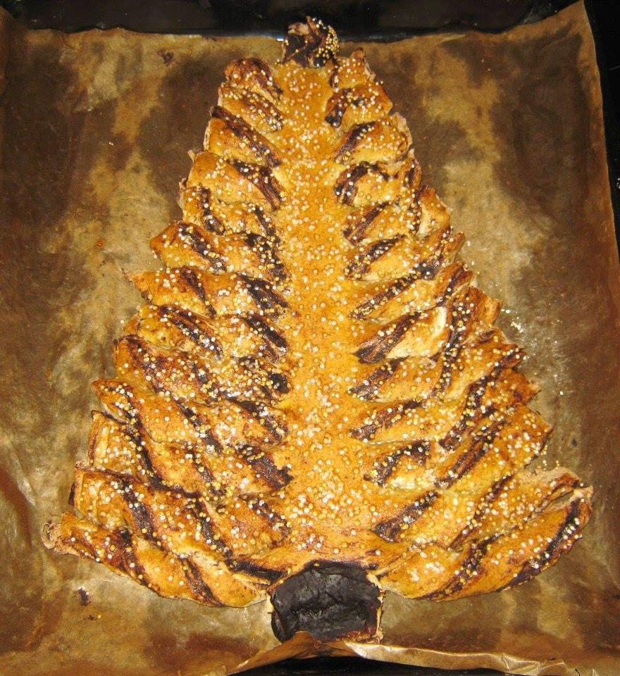 Csavart csokis karácsonyfa