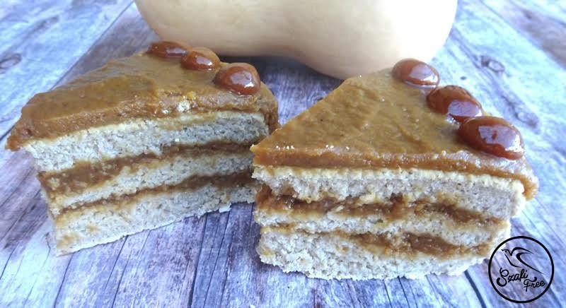 Hozzáadott cukortól mentes, zsírszegény karamell torta