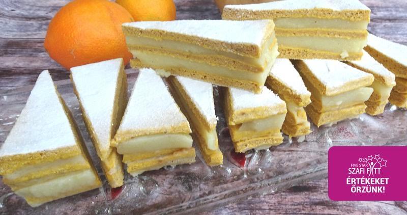 Szénhidrátcsökkentett narancsos-sütőtökös torta
