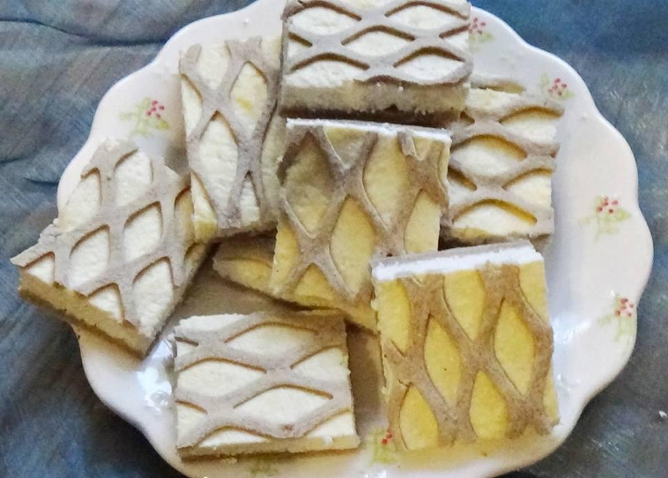 Gluténmentes rácsos túrós süti