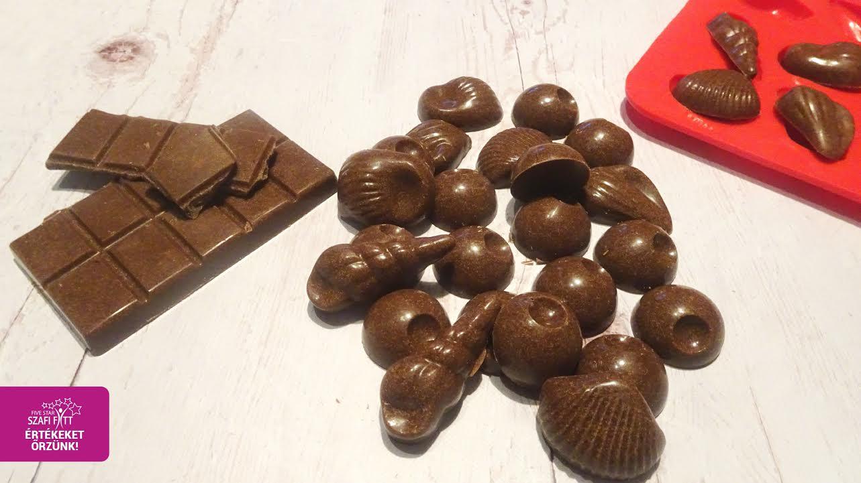 Hozzáadott cukortól mentes, gluténmentes, tejmentes karobos csoki