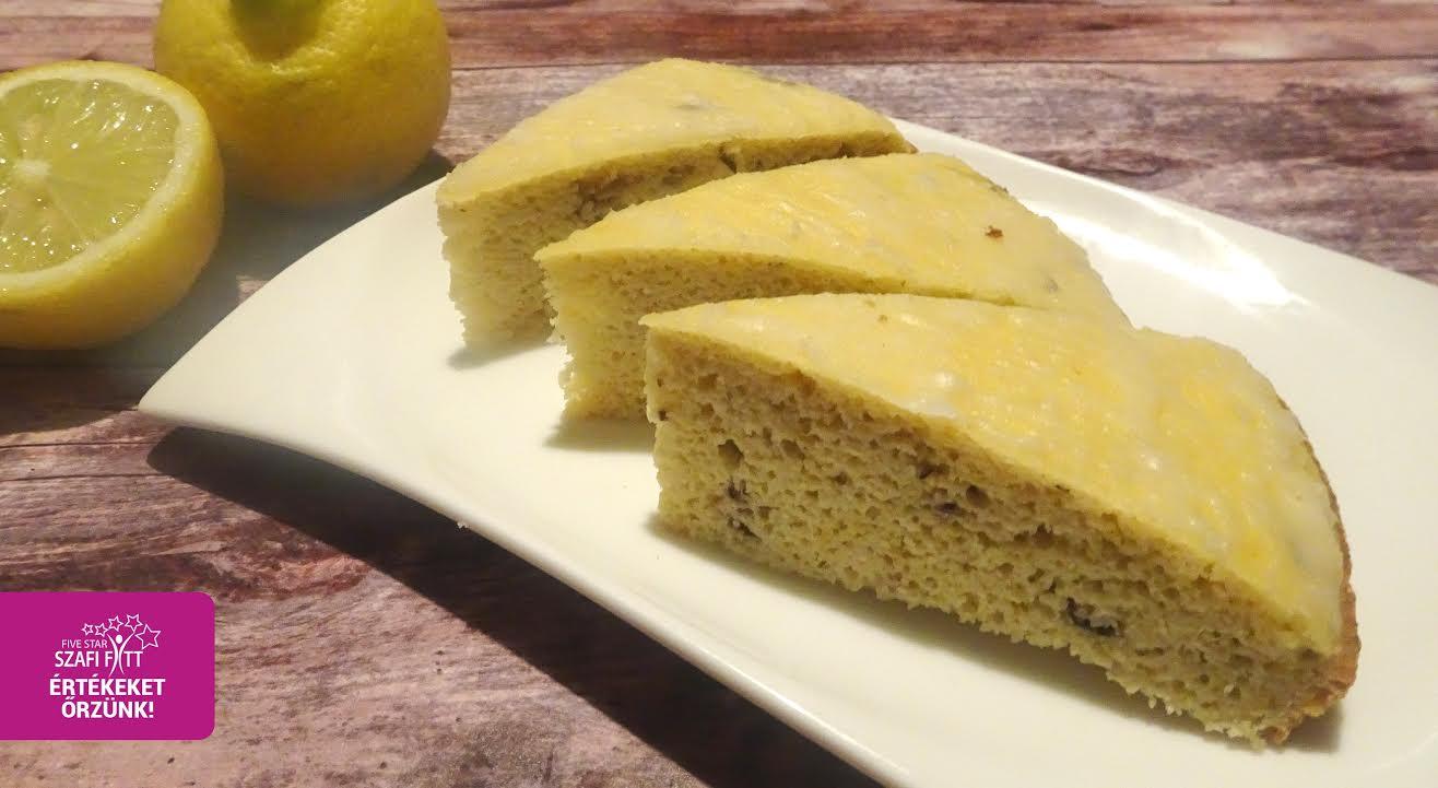 Szafi Fitt gluténmentes morzsás citromos szelet
