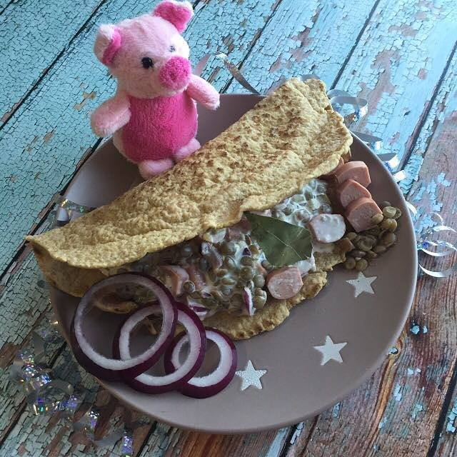 Szafi Free Expressz tortilla lencsesalátával