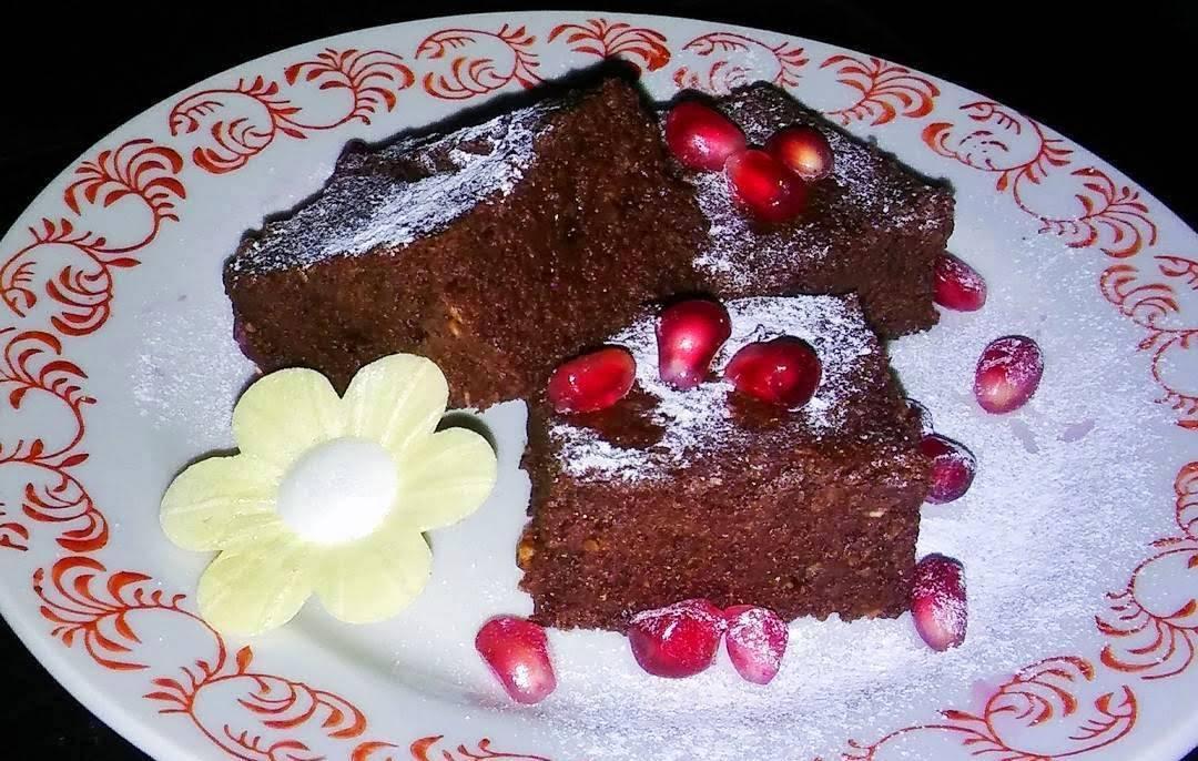 Gluténmentes cukkinis brownie