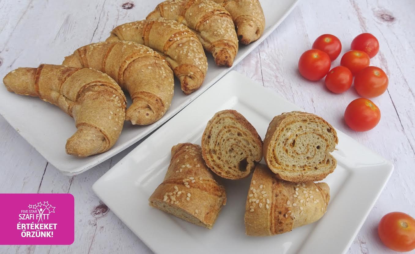 Szafi Fitt szénhidrátcsökkentett PALEO pizzás croissant